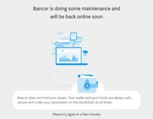 Bancor under maintenance
