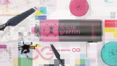 aeternity drone graffiti
