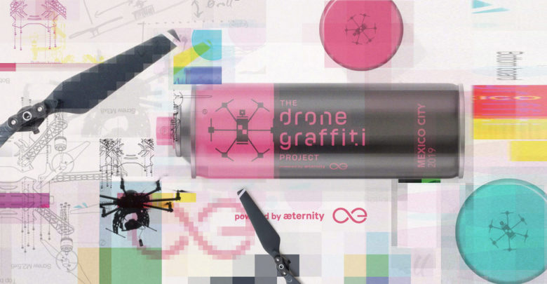 aeternity drone graffiti